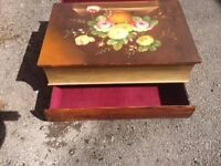 2 Draw Hand Painted Wooden Cabinet