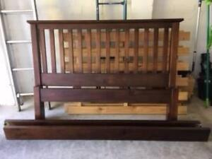 Double bed head, frame  and slatted base Parkdale Kingston Area Preview