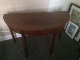 Demi lune D table (Georgian mahogany)
