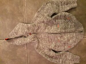 Never Worn Boys Brown/Orange Knitted Hooded Sweater -Size 5t
