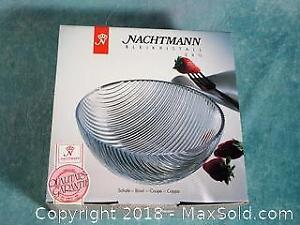 NEW in box $120 Original price High Quality Nachtmann 24% Lead Crystal Bowl Allegro Discontinued