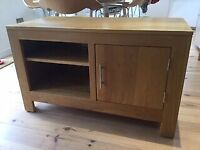 Matching pair - Solid oak sideboard and TV unit
