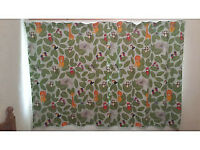 Nursery Jungle Blackout curtains John Lewis Little Home W117 drop 137cm
