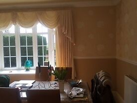 Cream curtains, fully lined. Very good quality fabric. For sale due to change of decorations