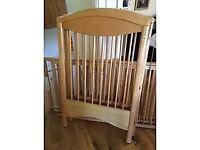 mammas and pappas virginia wooden cot