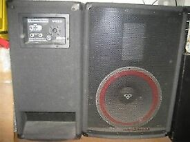 CERWIN-VEGA V-122 12 inch speaker full range PA cabinets - 300 Watts each.