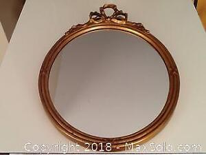 Vintage Gilded Oval Mirror