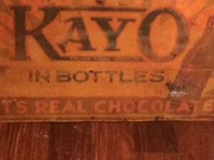 RARE 1940'S  KAYO CHOCOLATE ADVERTISING SIGN! $190