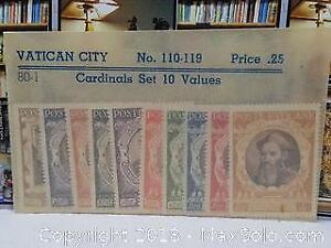1940s Vatican city Stamp Set Mint
