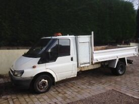 Transit Tipper with tool boxes factory fitted LPG/Petrol