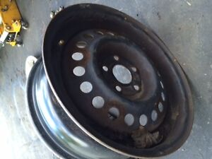 """Set of Two Steel 15"""" 5x100 Tire Rims"""