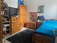 Solid pine wood bedroom furniture set