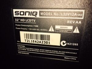 "Soniq 32"" TV Coorparoo Brisbane South East Preview"