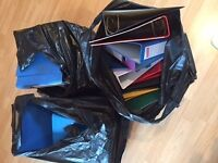 Selection of A4 files & ringbinders