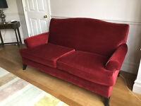 Red velvet sofa for sale