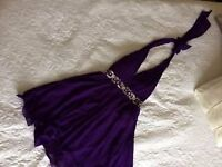 Purple Encrusted Evening / Party Prom dress Size 14