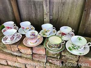 Vintage Fine Bone China Cups and Saucers Including Paragon Adams and Royal Albert