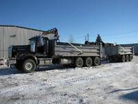 Western Star 4900 Tri axle Gravel Truck w/Pup