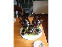 set of 5 decorative jugs