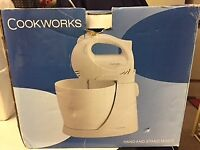 Cook works hand and stand mixer