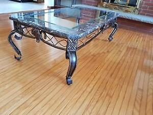 Marble & Glass Top Coffee Table