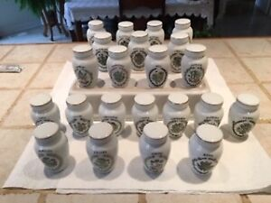 Franklin Mint  Gloria Concepts 22 piece spice jar collection