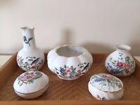 Aynsley/Wedgwood Bone china trinket pots/giftware