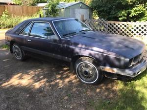 1986 mercury capri v6 automatic