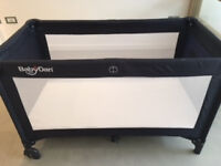 Baby Dan travel cot with extra mattress £30