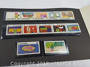 1970 Canada Christmas Mint Stamp Set