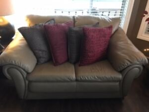 LEATHER COUCH+ LOVESEAT+CHAIR