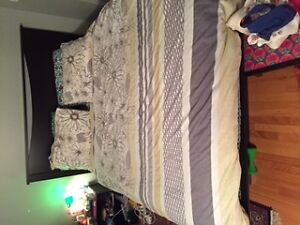 bed with head board and a mattress Cambridge Kitchener Area image 5