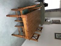 Pine Dining Room Table and 4 Chairs