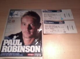 West Ham Millwall League Game 2011 Programme and 2x Away End Match Stubs.