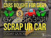 Scrap my car today best prices paid for ur scrap car collection same day basildon essex