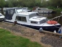 River cruiser (3berth)for sale on the River Nene