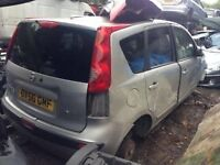 NISSAN NOTE 2006 1.6 PETROL SILVER 5DR BREAKING FOR SPARES