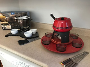 Vintage Meat Fondue Set &Cheese, Chocolate  Meat Fondue Set Pack