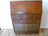 RETRO/VINTAGE Fold Down WRITING DESK/CABINET