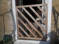 WOODEN GARDEN GATE / SAFETY GATE ** 96cm HIGH x 85cm WIDE ** clacton on sea - CO15