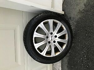 Mercedes set of 4 winter rims and tires ( 205/55R/16 )