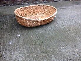Wicker Dog Basket Bed Extra Large