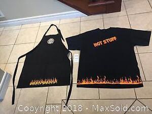 TBQ BBQ Apron & T-Shirt