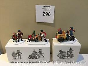 """Department 56 Accessories """"Gingerbread Vendor"""" & Johnson's Grocery...Holiday Deliveries"""