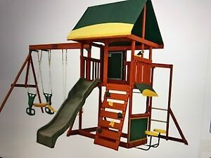 Childrens Wooden Outdoor Swing Set from Kidcraft