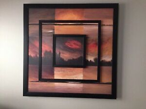 Large Framed Art Piece