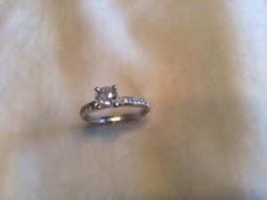 Engagement ring 14kt white gold .89 total carat /size 6 Peterborough Peterborough Area image 3