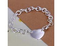 925 Sterling Silver Heart Style Bracelet