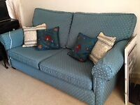 LOVELY BLUE SOFA free to collector or £10 donation to charity