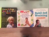 3 books for weaning and feeding your baby